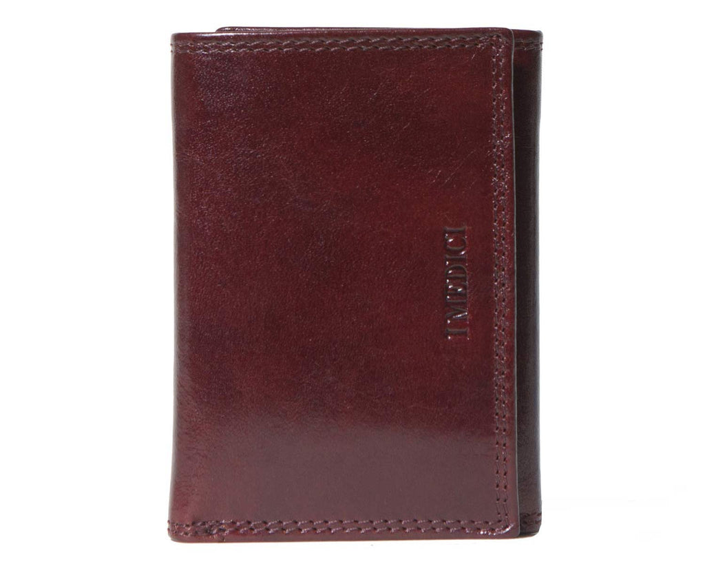 I Medici Trifold Mens Wallet With Credit Card Pockets in Brown