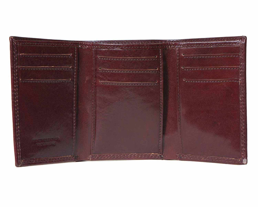 Inside of I Medici Trifold Mens Wallet With Credit Card Pockets