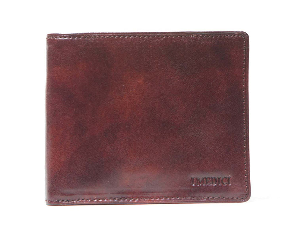 I Medici Bifold Mens Wallet with ID Window in Brown
