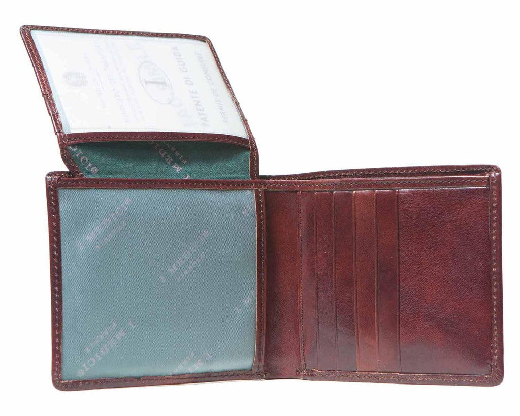 Inside of I Medici Bifold Mens Wallet with ID Window