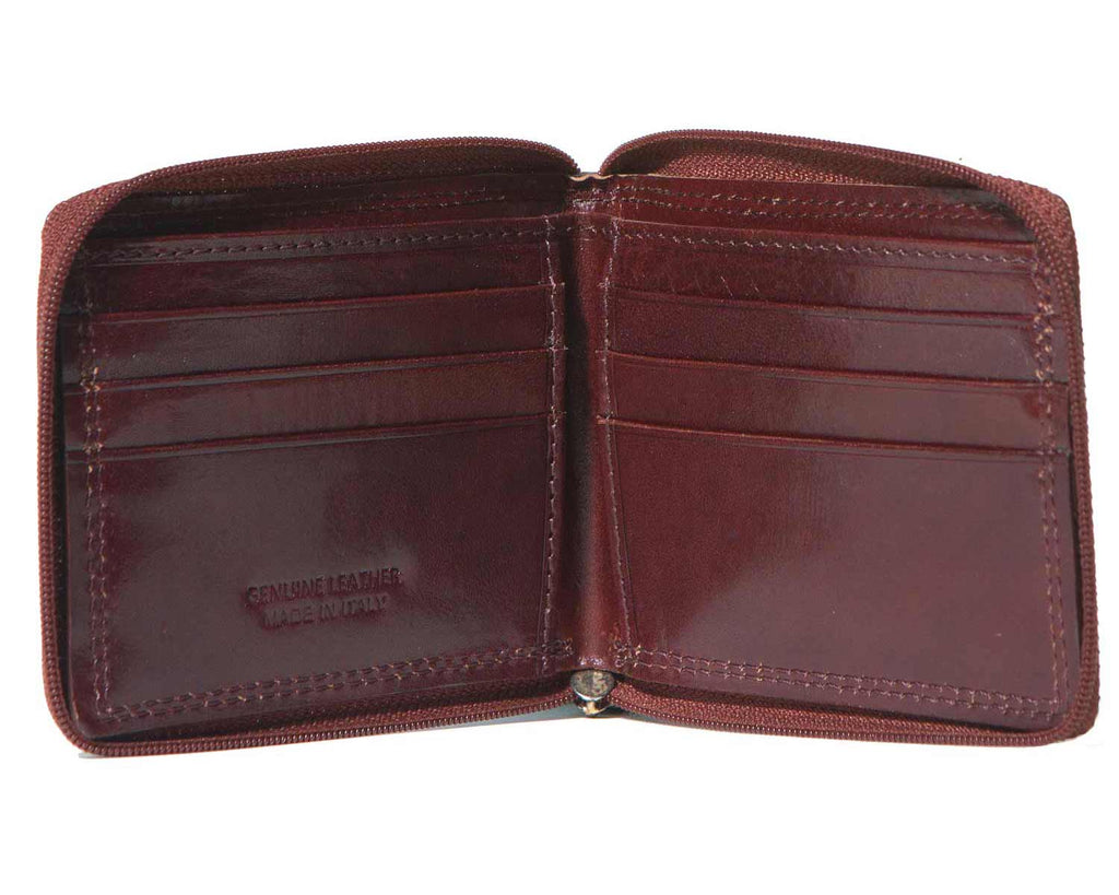 Inside of I Medici Bifold Mens Zip Around Wallet