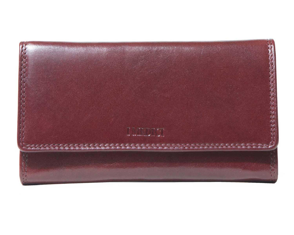 I Medici Mona Clutch Wallet for Women in Brown