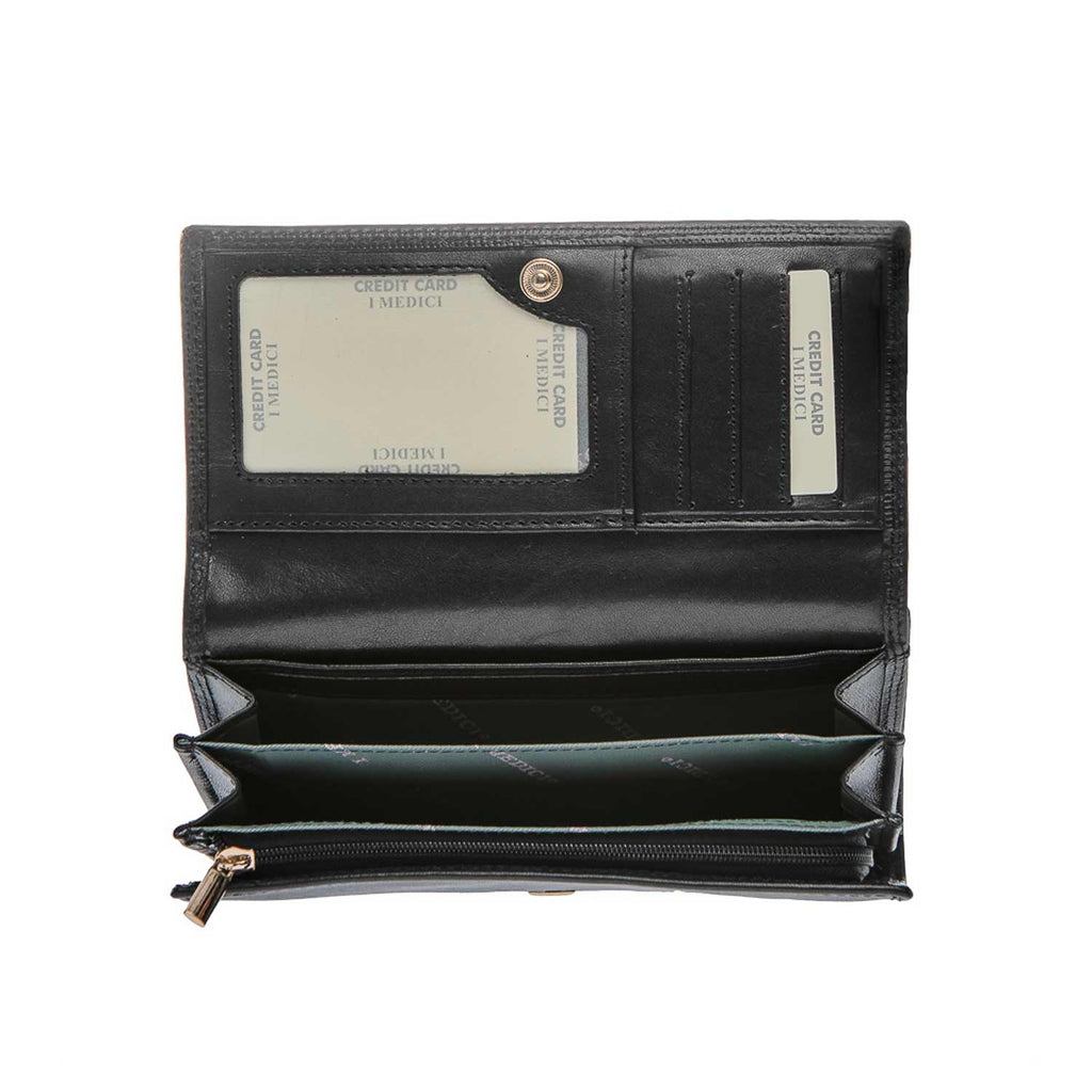 Inside of I Medici Mona Clutch Wallet for Women