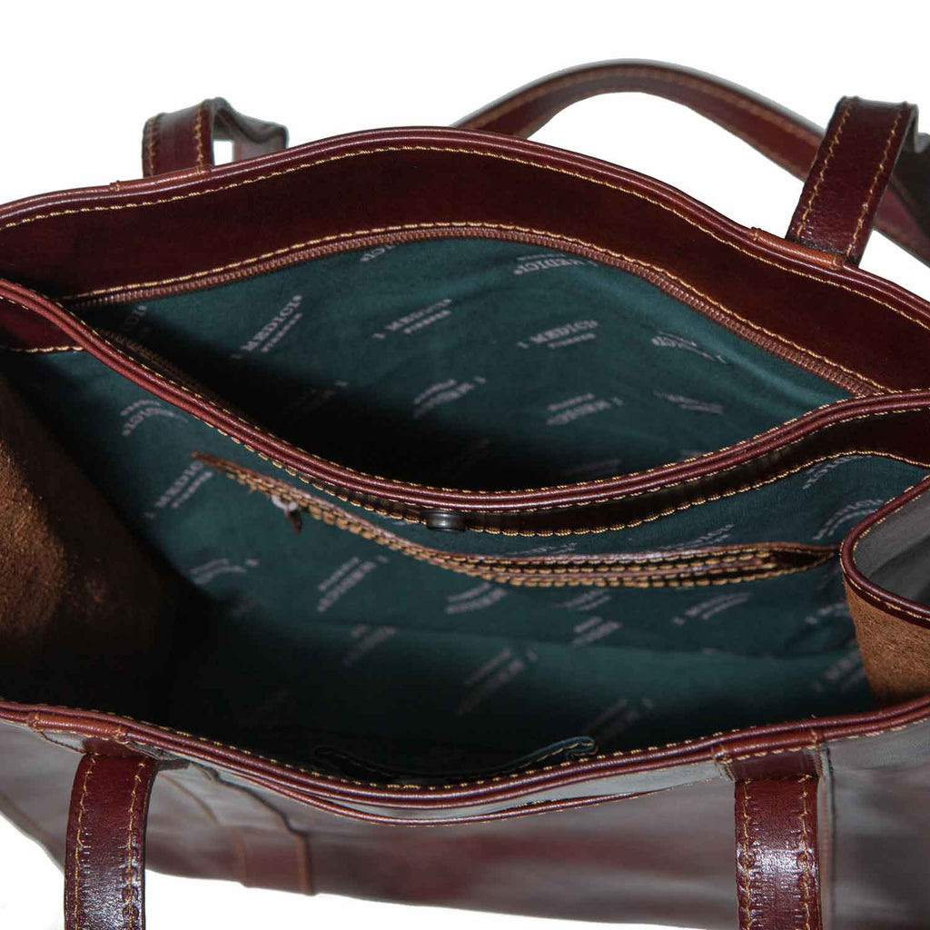 Inside of I Medici MEZZO Medium Leather Tote Bag, Handbag