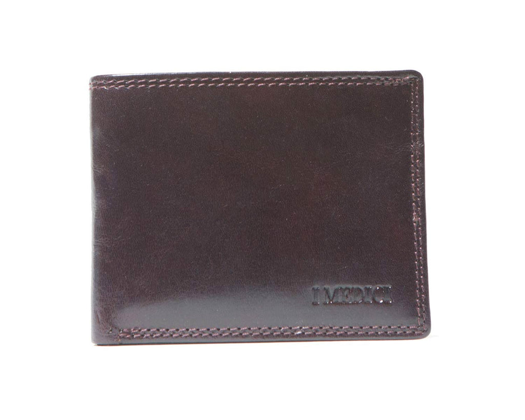 I Medici Bifold, Wallet for Men with Coin Pocket Inside in Chocolate