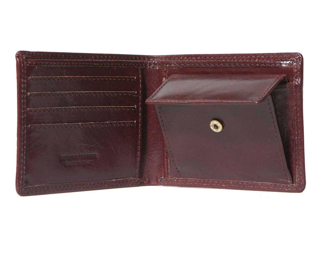 Inside of I Medici Bifold, Wallet for Men with Coin Pocket Inside