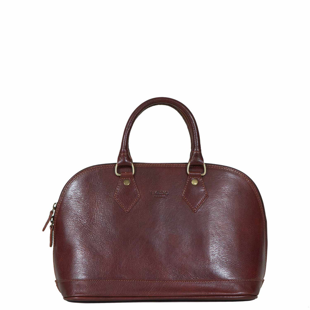 I Medici The Size and Style Italian Leather Handbag in Brown