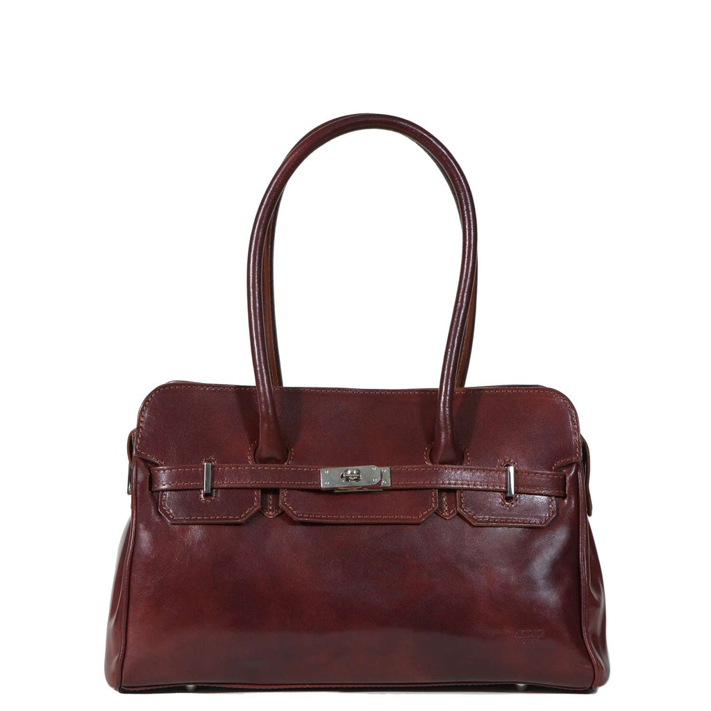 I Medici The Timeless Italian Leather Handbag in Brown