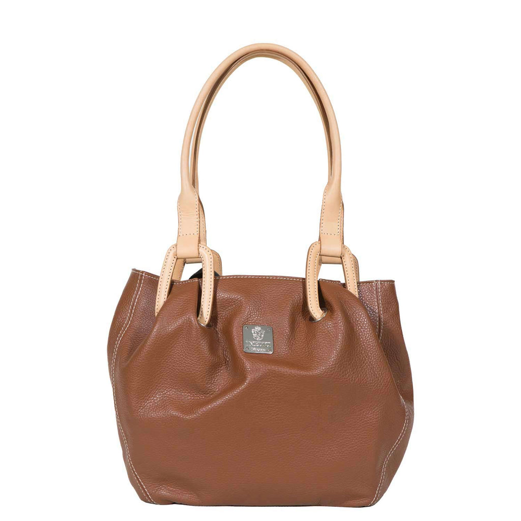 I Medici Abri Italian Tote Bag, Leather Handbag in Brown