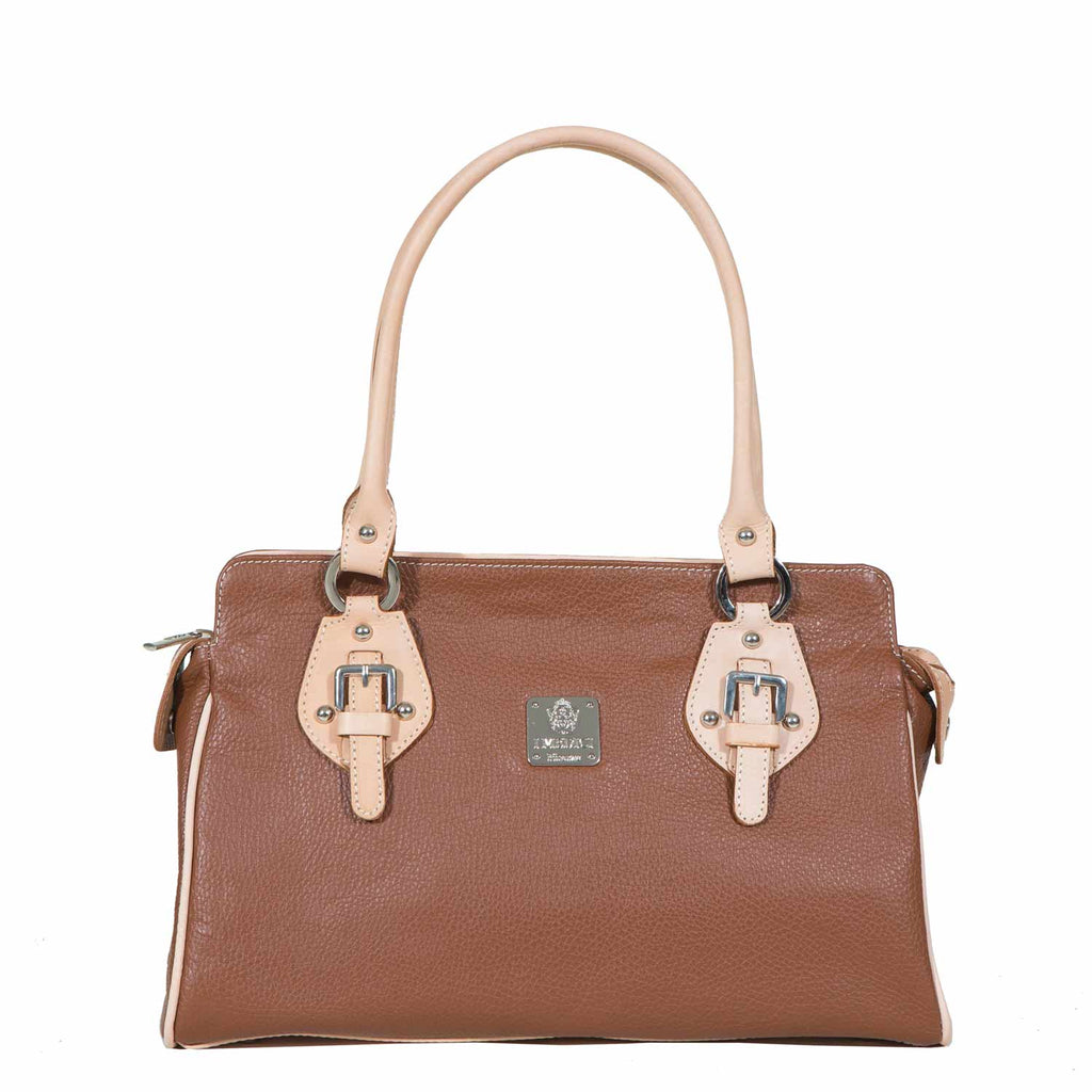 I Medici Leola Italian Tote Bag, Womens Handbag in Brown