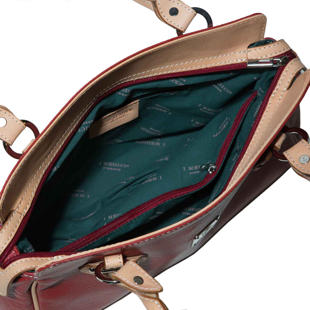 Inside of I Medici Leola Italian Tote Bag, Womens Handbag