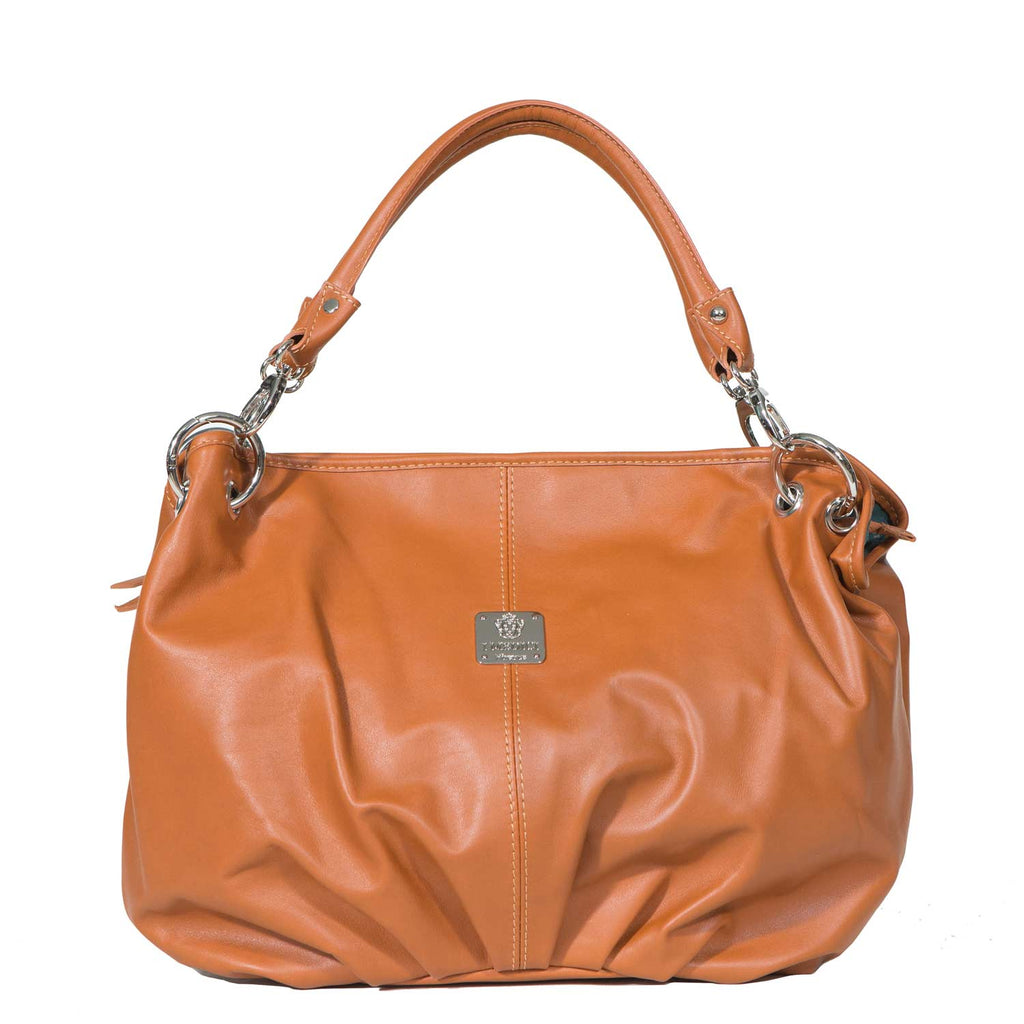 I Medici DOLCE Soft Leather Shopper Handbag, Tote Bag in Honey