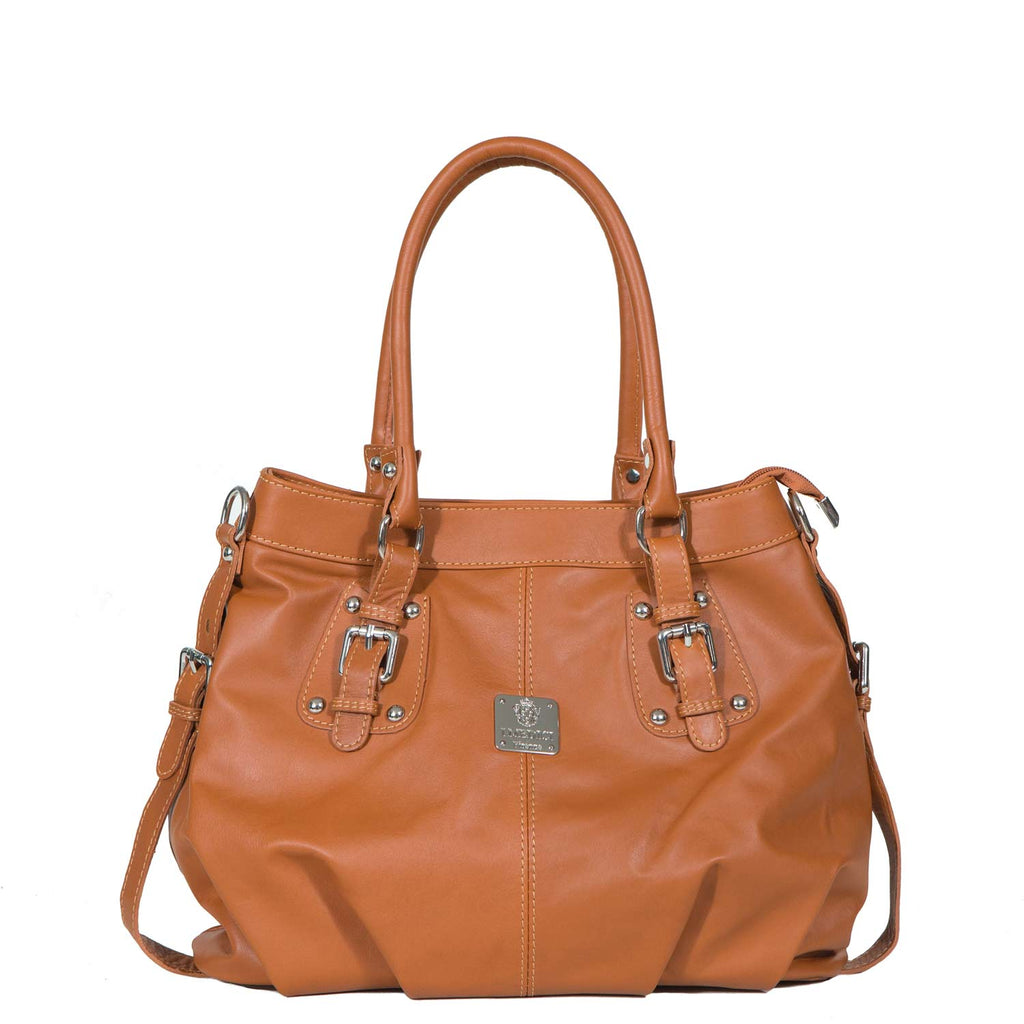 I Medici ESTESO Soft Leather Large Tote Bag, Handbag in Honey