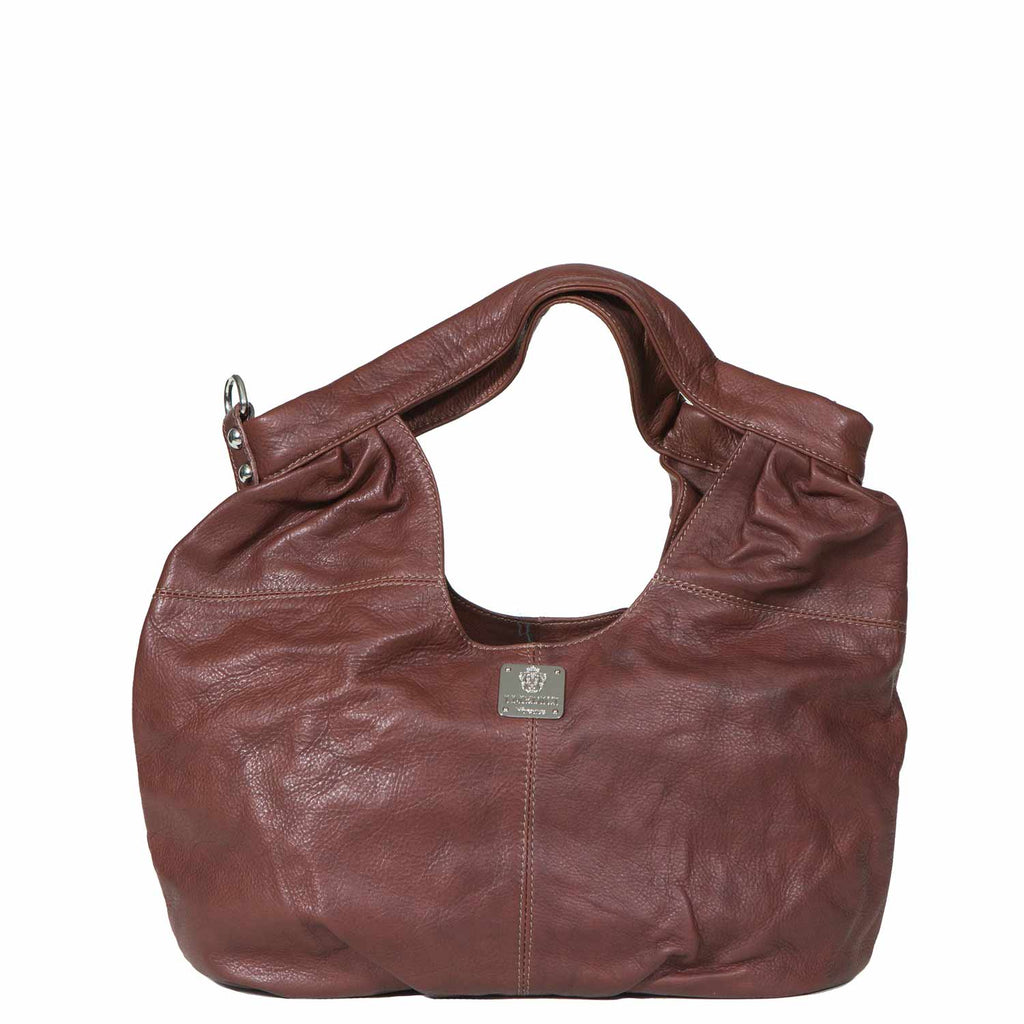I Medici TENERO Soft Leather Italian Hobo Bag in Brown