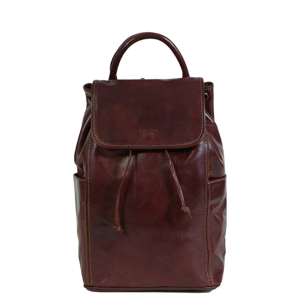 I Medici Italian Leather Backpack in Brown