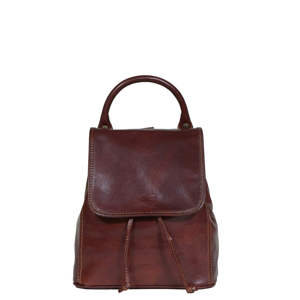 I Medici Simple Daypack Backpack in Brown