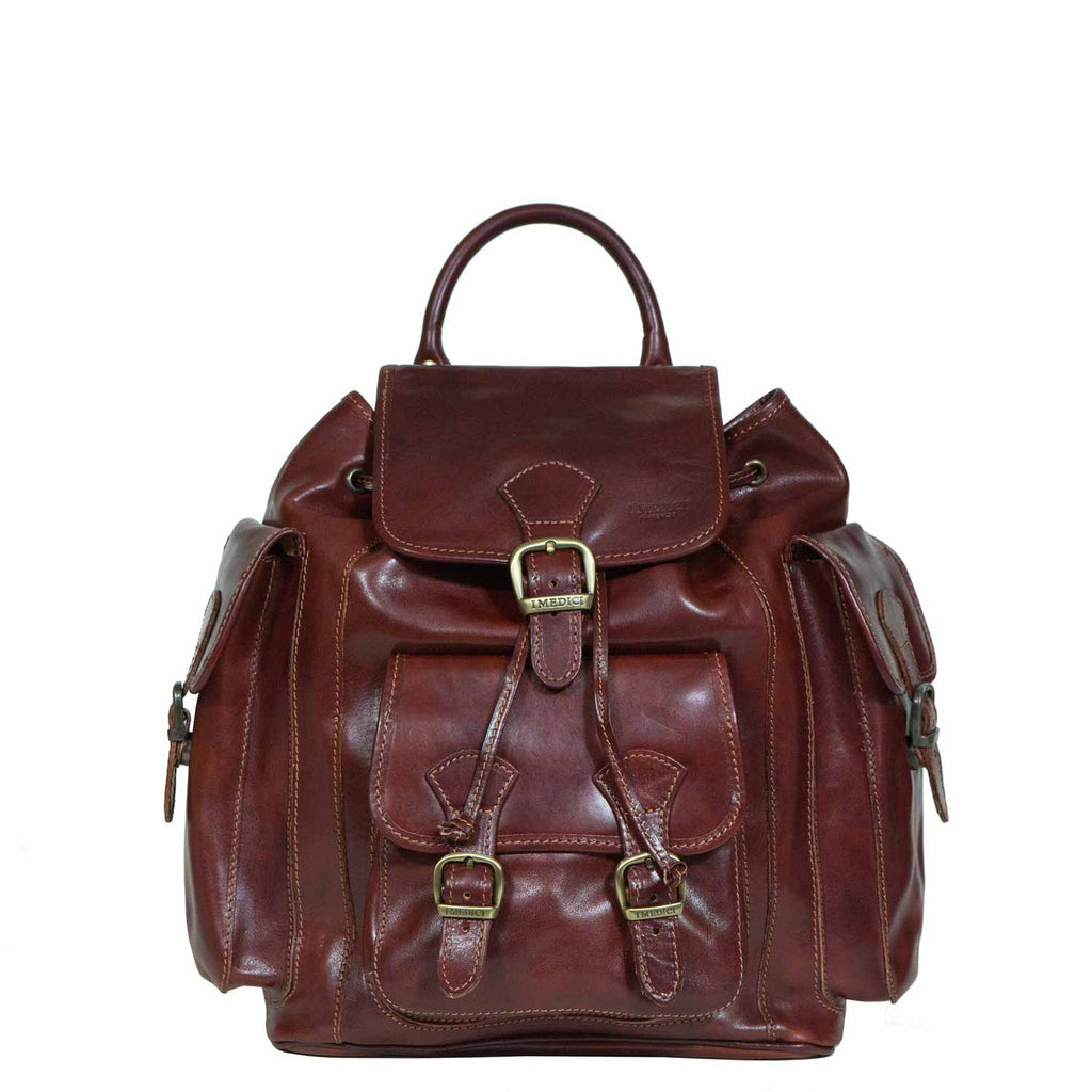 I Medici Stefano Three Backpack in Brown