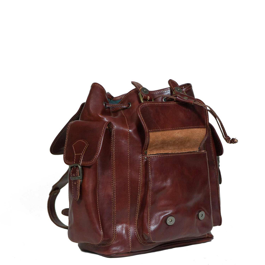 I Medici Stefano Three Backpack, Opened