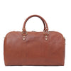 "I Medici Borsone Ovale Uno Leather Carry on Duffel Bag, 20"" Luggage in Matte-Brown"