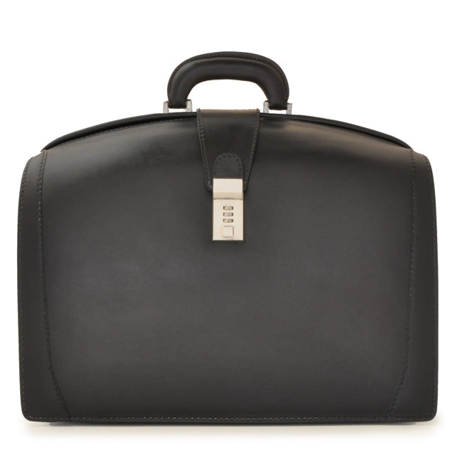 Pratesi Bruce Range Brunelleschi Bold Lawyers Briefcase, Attorney Case, Laptop Pocket in Black