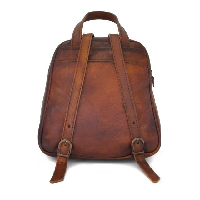 Rear of Pratesi Bruce Range Sirmione Leather Backpack
