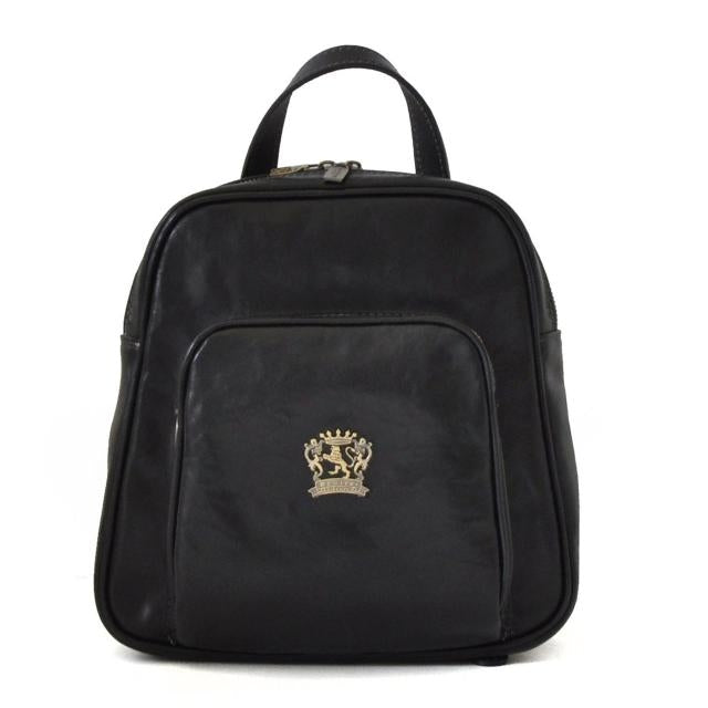 Pratesi Bruce Range Sirmione Leather Backpack in Black