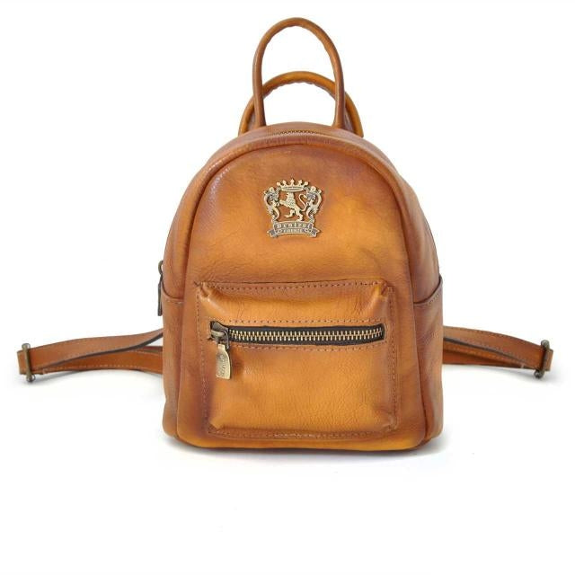 Pratesi Bruce Range Montegiovi Small Leather Backpack in Cognac