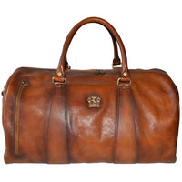 Pratesi Bruce Range Fitnesman Firenze Leather Duffle Bag, Carry On Travel Case in Brown