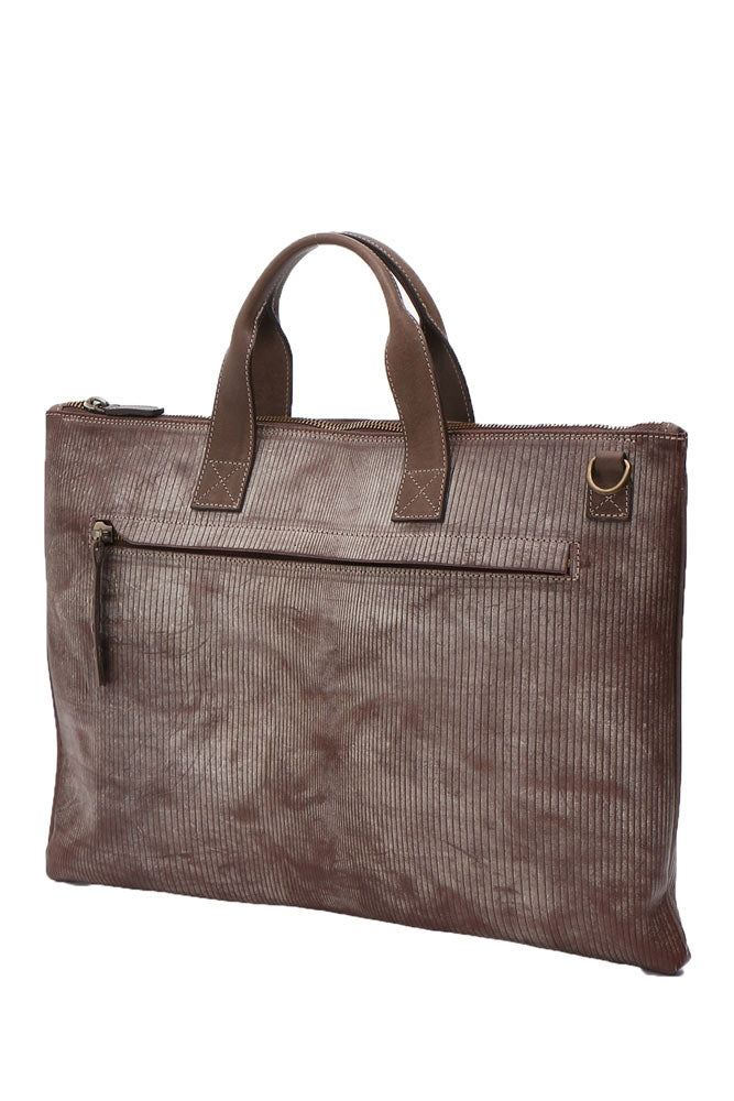 Terrida Ghost Drake Slim Briefcase, Business Bag in Brown
