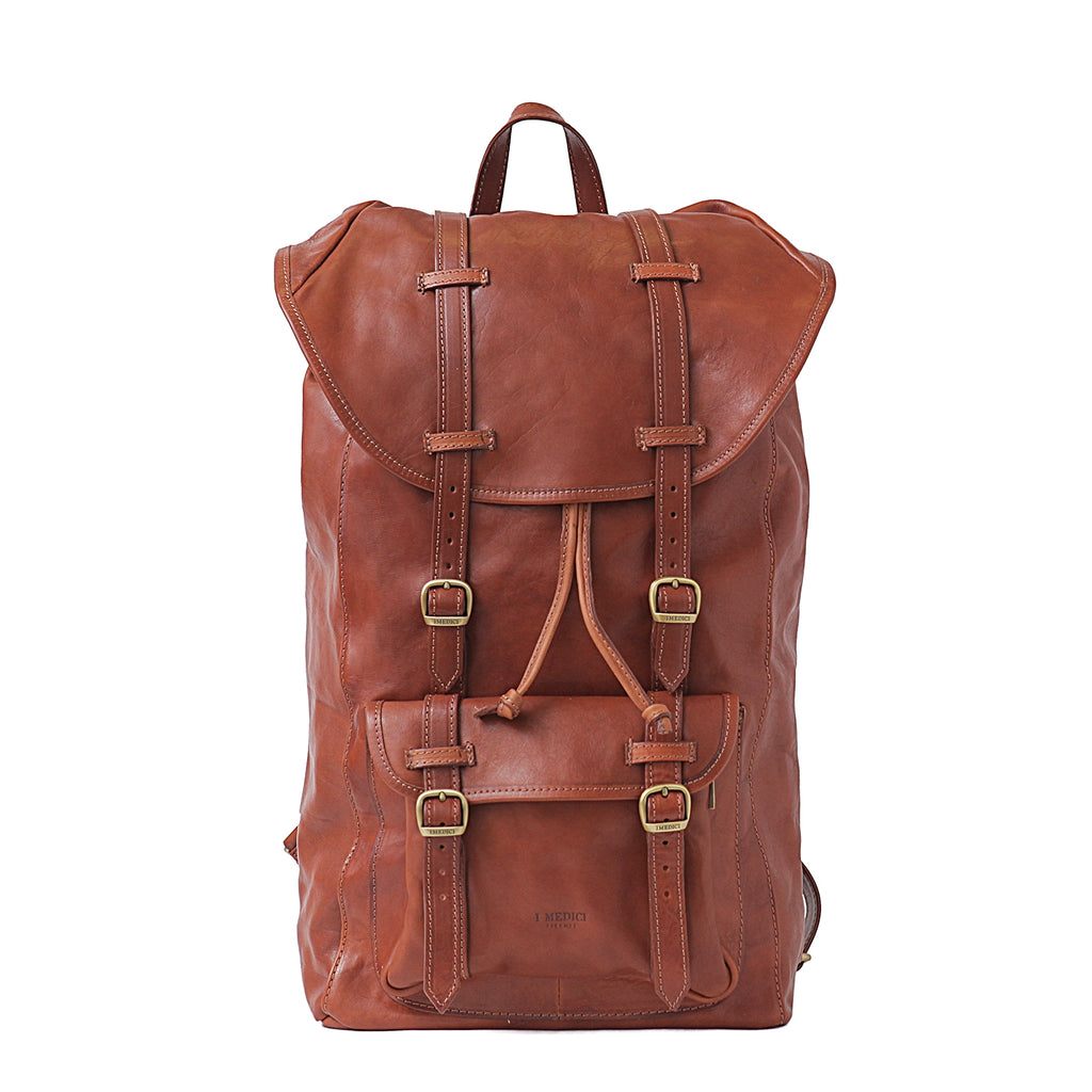 I Medici Trapani Large Backpack in Brown