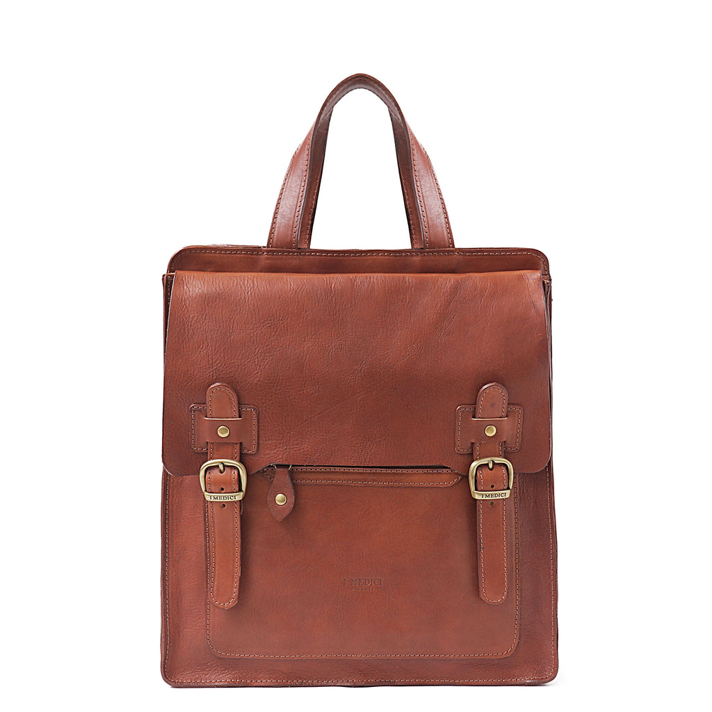 I Medici I Medici Treviso Vertical Backpack Briefcase in Brown