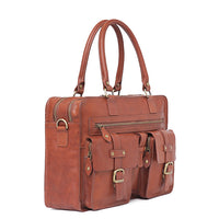 I Medici Lucca Laptop Briefcase in Brown