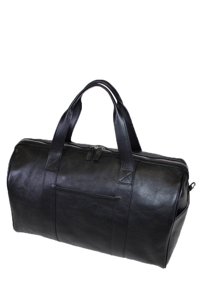 "Terrida Marco Polo PICASSO Leather Duffle Bag 20"" Travel Bag Carry on in Black"