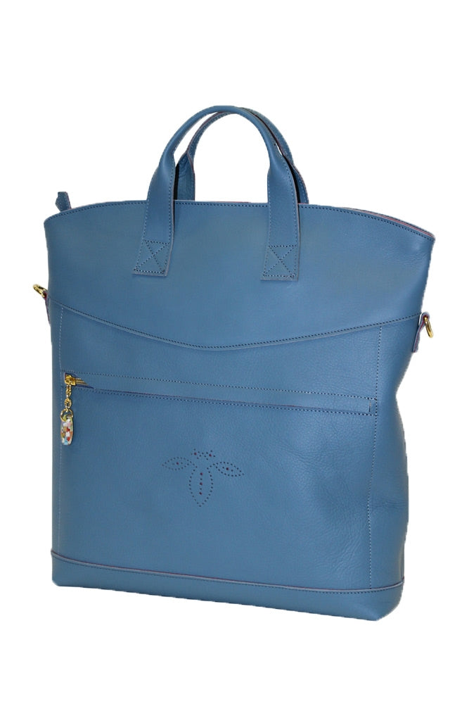 Terrida Murano Collection Shoulde Bag for Women With Top Handles in Light Blue