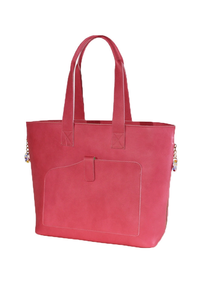 Terrida Murano Collection Top Handle Shopping Tote in Pink