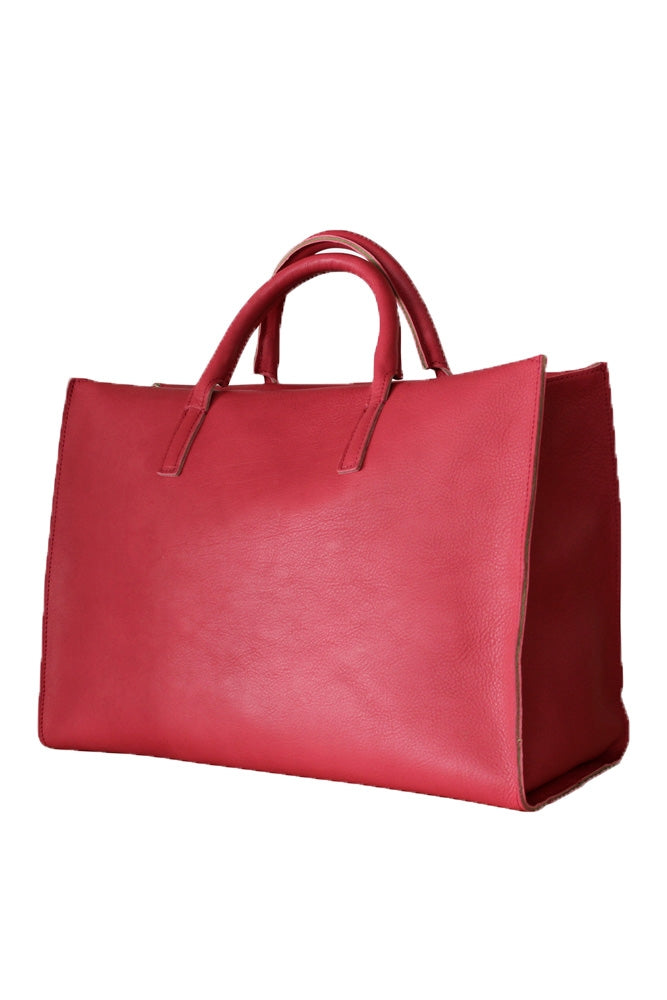Terrida Murano Collection Women's Leather Handbag Tote in Pink