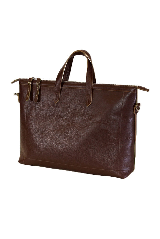 Terrida Marco Polo Collection Leather Handbag in Dark Brown