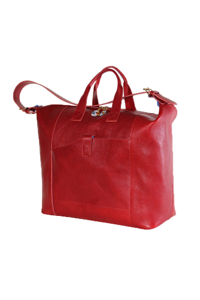 Terrida Murano Collection Tuck Duffle Bag in Red