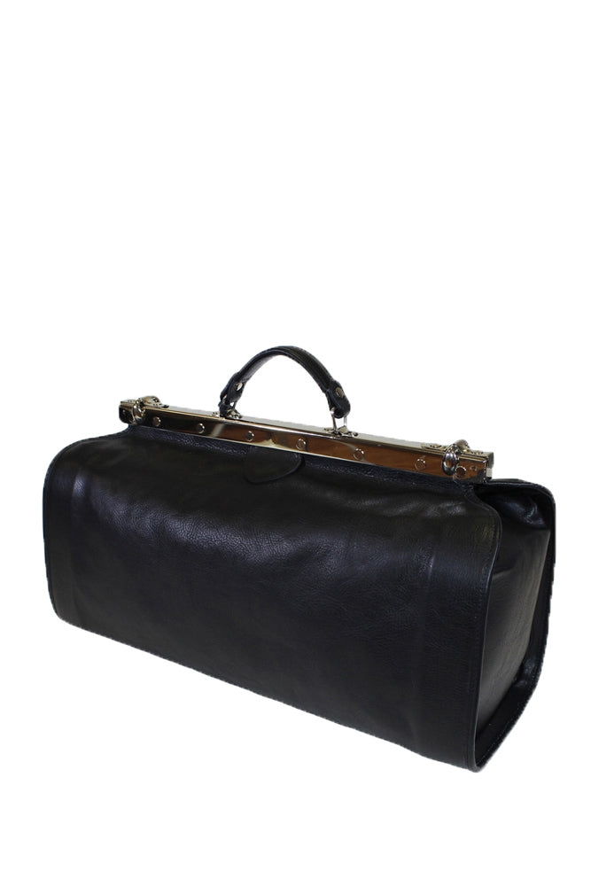 Terrida Marco Polo GAUDI Duffle Bag Metallic Frame, Doctor's Style in Black