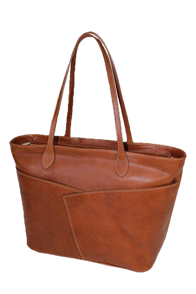 Terrida Marco Polo Bramante Leather Tote Bag in Brown