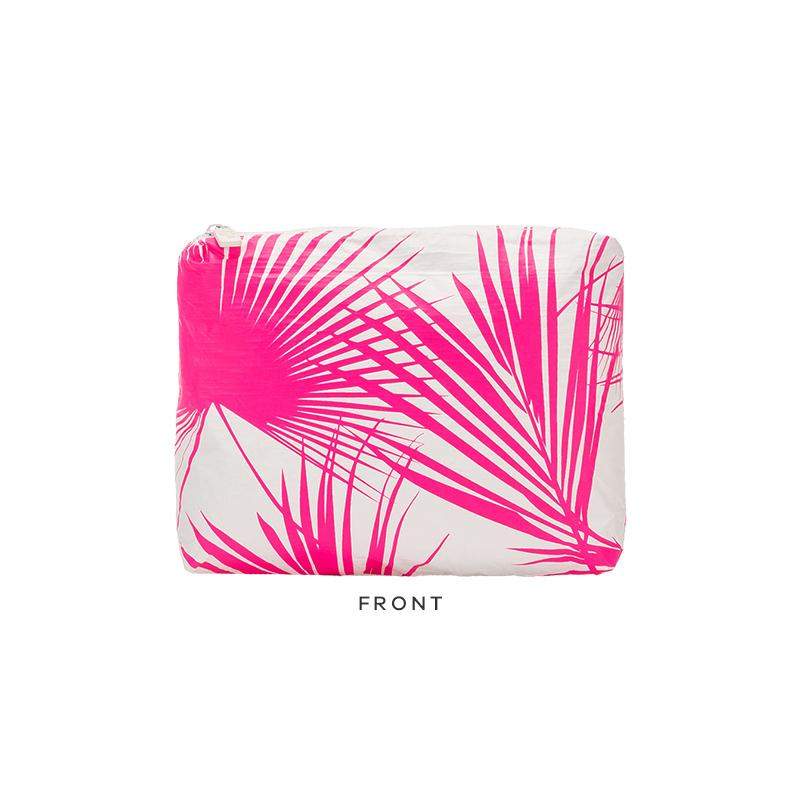 Day Palms Pouch S - Neon Pink