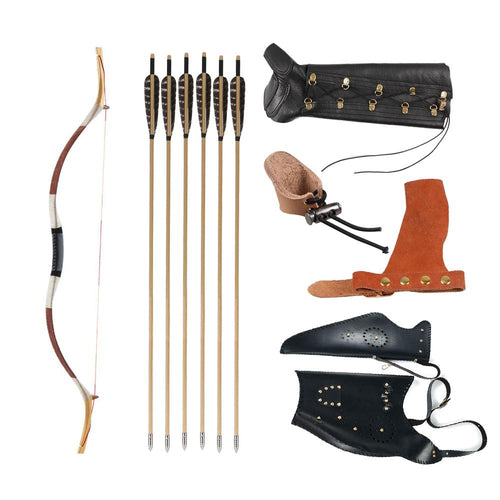 Manchu Recurve Bow Wood Arrows Kit