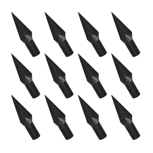 12x 178-grain 8mm Black Glue On Broadheads
