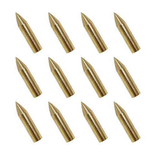 12x Golden Glue-on Field Points
