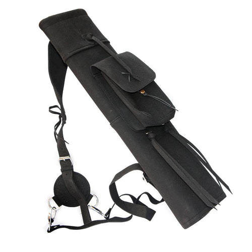 Black Suede Leather Back Quiver