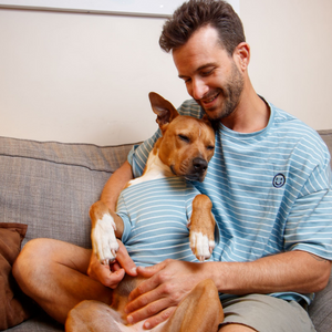 Open image in slideshow, Matching Owner & Dog PJ Style Striped Tees