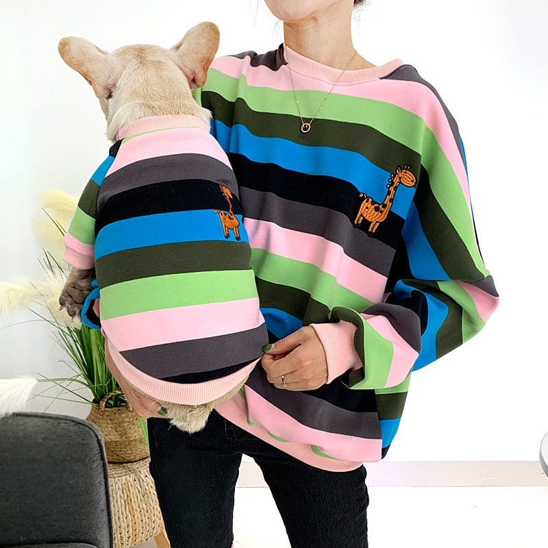 Matching Owner & Dog Super Soft Rainbow Sweatshirt