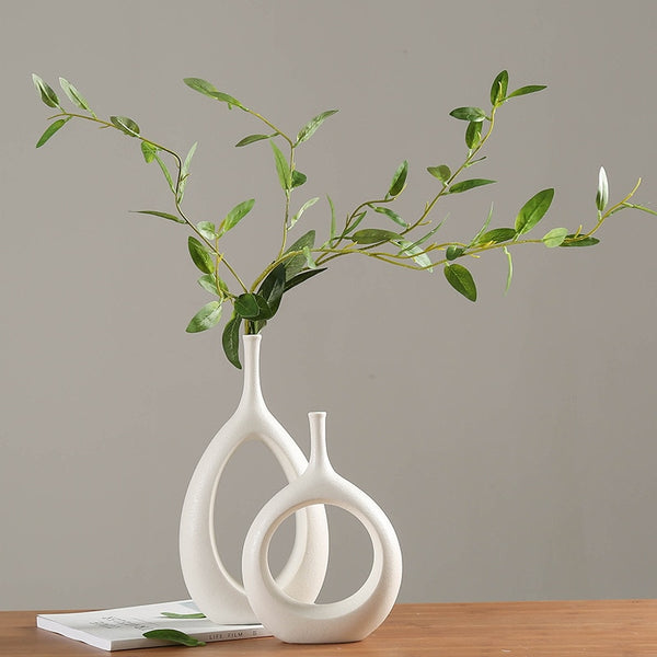 White Ceramic Ornaments Vase
