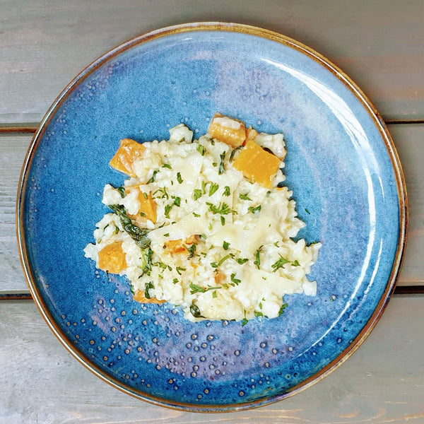 Butternut, Goat's Cheese & Spinach Risotto