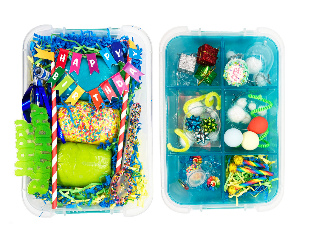 The Birthday in a Box Kit (Blue/Green)
